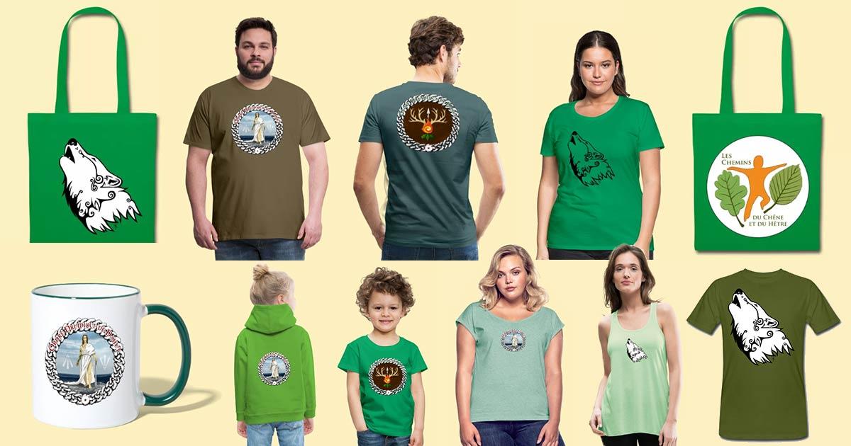 On voit plein de goodies verts. Sacs, mugs, t-shirts, sweats-shirts, etc. Pas 1 promo mais 2 sur les Comptoirs Païens, la boutique d'Arantelle !